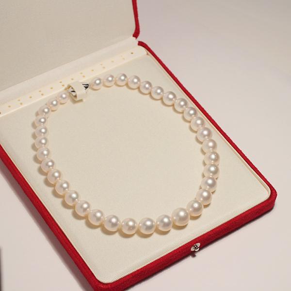 パールネックレス白蝶真珠14-10mm全長44.5cm高機能ケースパールキーパー入り|wizem|06