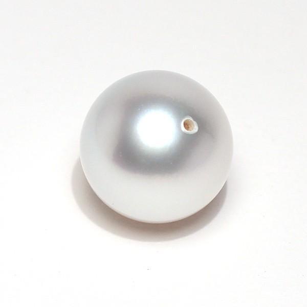 白蝶真珠直径12.6mmパールルース ラウンド形珠のみキズほぼなし穴あき指輪やペンダント加工に|wizem|02