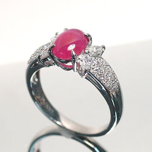 スタールビー指輪1.639ctプラチナダイヤリング ルース鑑別書付 スターが美しく浮かび上がる wizem 04