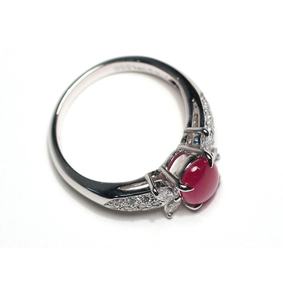 スタールビー指輪1.639ctプラチナダイヤリング ルース鑑別書付 スターが美しく浮かび上がる wizem 07
