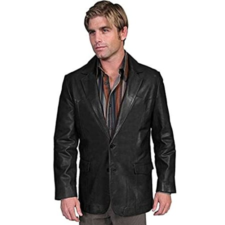 Western Single Point Blazer Color: Black Size: 44 Long