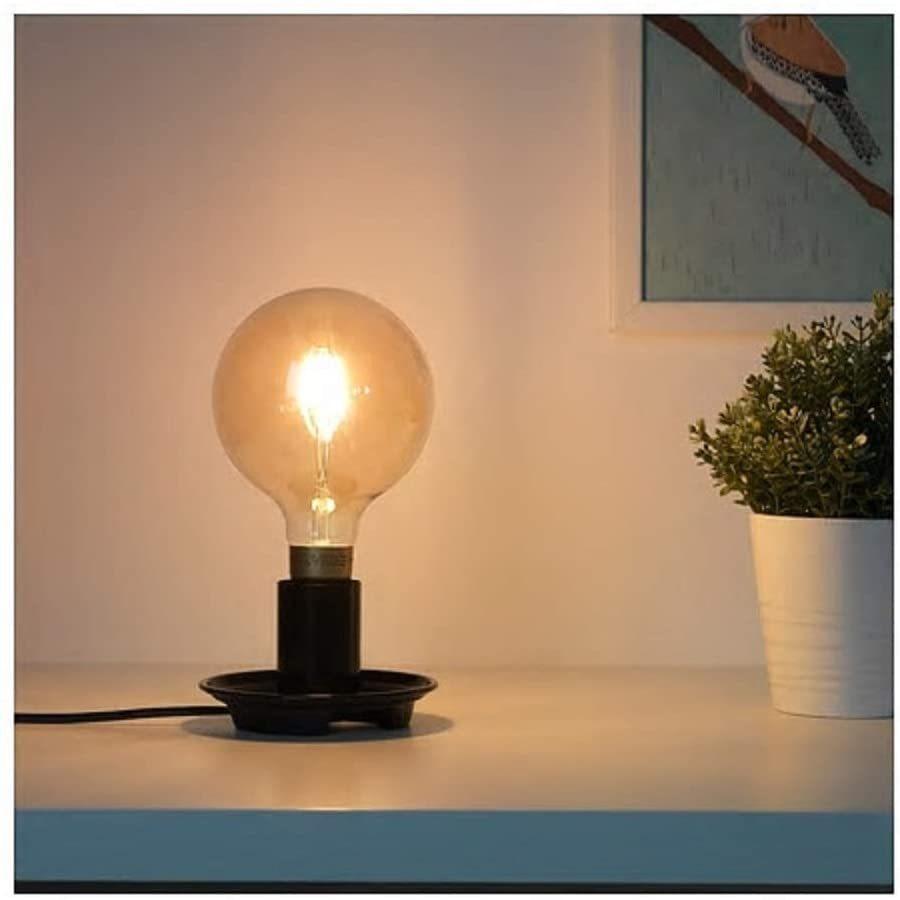 IKEA/イケア BARALUND:テーブルランプベース8cm ブラック (204.416.15) wkwkintl 03