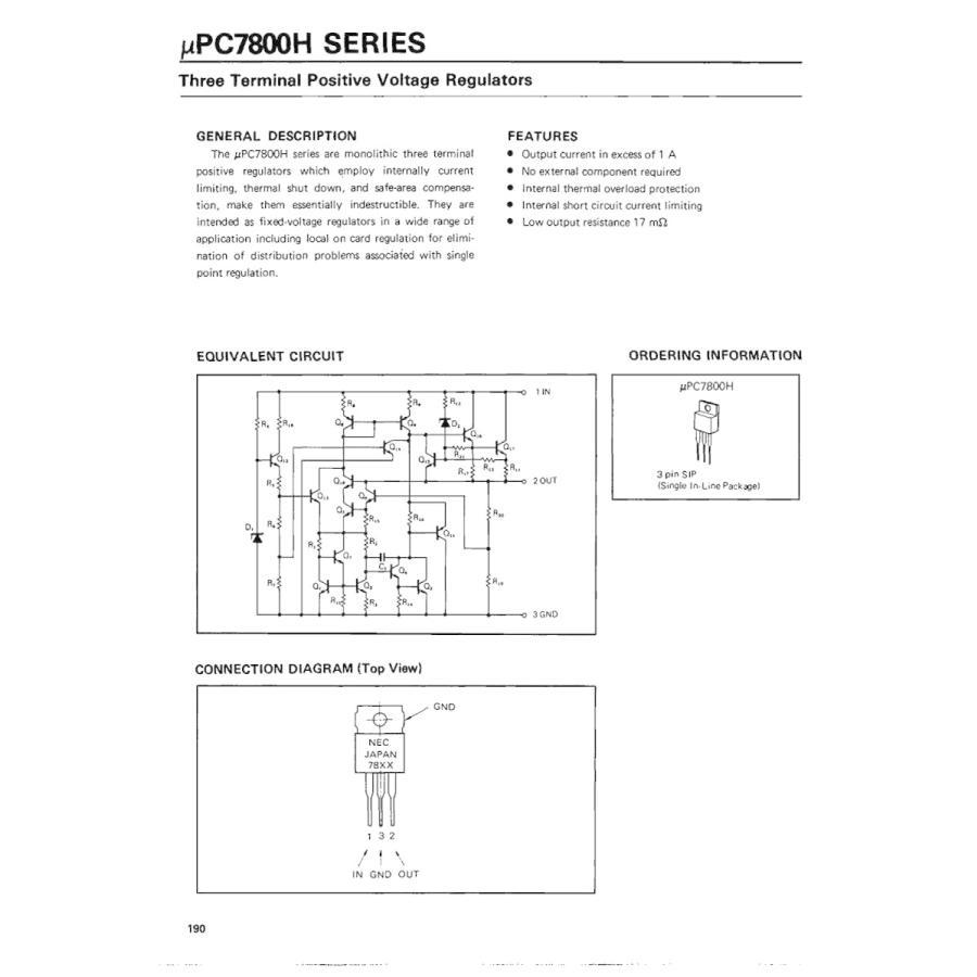 NEC 汎用品 三端子レギュレータ 5V 1A UPC7805H (5個セット)|wkwkintl|06
