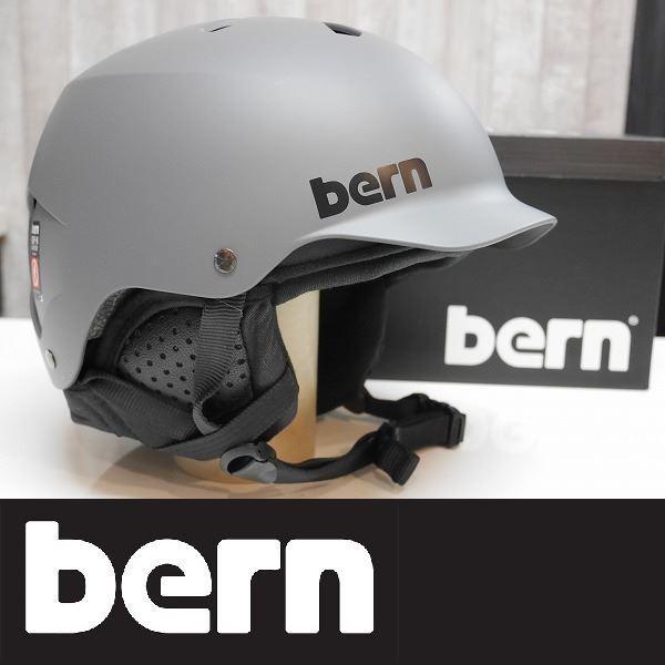bern ヘルメット WATTS インナー付き Winterモデル - MATTE グレー ジャパンフィット 国内正規品