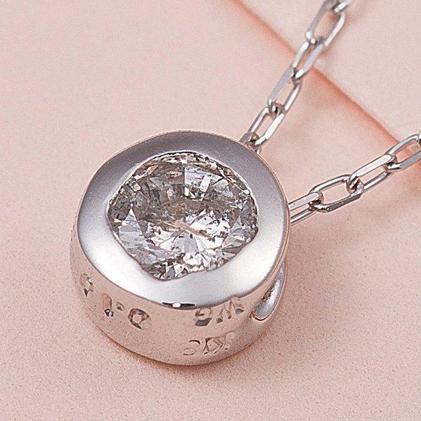【お得】 K18WG 0.1ctダイヤモンドフクリンペンダント, 鞍手町 9303eef1
