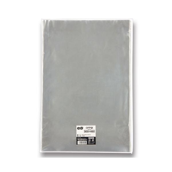 (まとめ) TANOSEE OPP袋 フラット 300×450mm 1パック(100枚) 〔×5セット〕