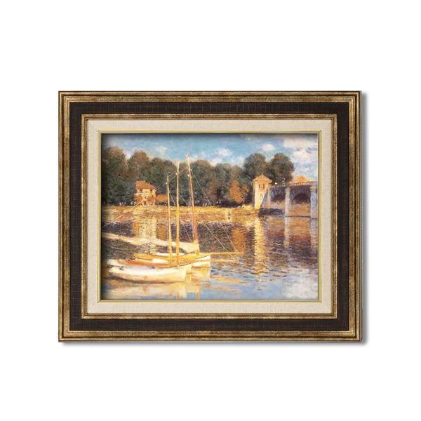 ダークブラウンアンティーク額 〔額装品〕世界の名画9573 F6 モネ「アルジャントーユの橋」|wmstore
