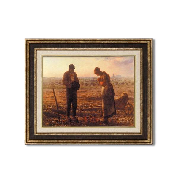 ダークブラウンアンティーク額 〔額装品〕世界の名画9573 F6 ミレー「晩鐘」|wmstore