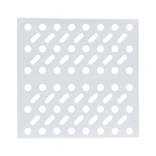 浴室 排水口フィルター/風呂掃除 〔角〕 貼ってヘアーストッパー ホワイト レック 〔240個セット〕