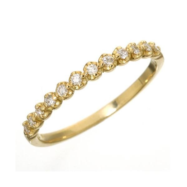 【超目玉】 K18 ダイヤハーフエタニティリング イエローゴールド 15号 指輪, シルクの三樹 d19cbf1e