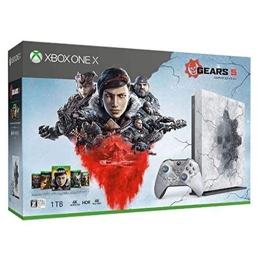 Xbox One X Gears 5 リミテッド エディション (Gears 5 アルティメット エディション Gears of War 1,2,3,4 ダウンロード版)「予約受付中」「キャンセル不可」