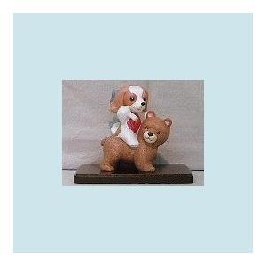 昔話シリーズ・金太郎(キャバリア)置物[犬種別犬雑貨わんダフル]
