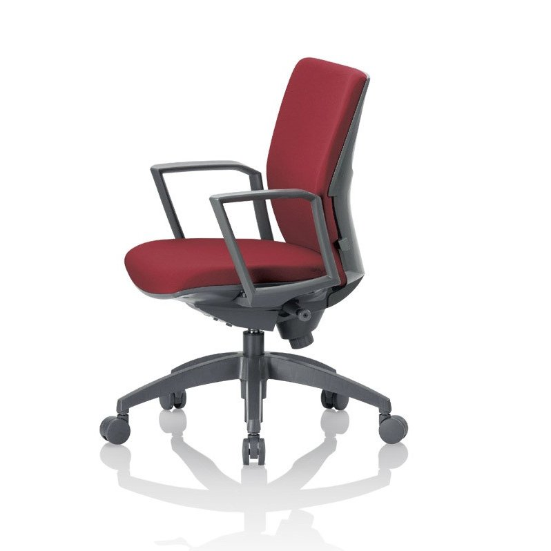 アイコ オフィスチェア オフィスチェア OS-2215SJ(FG2)布張り ローバック サークル肘付きタイプ
