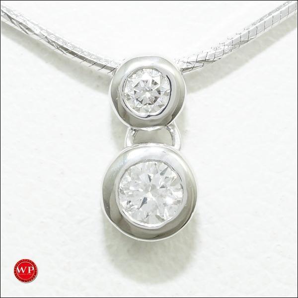 満点の ネックレス K18 18金 WG ホワイトゴールド K14WG ダイヤ 0.15, 宝石時計サロン帝國堂 321013ea