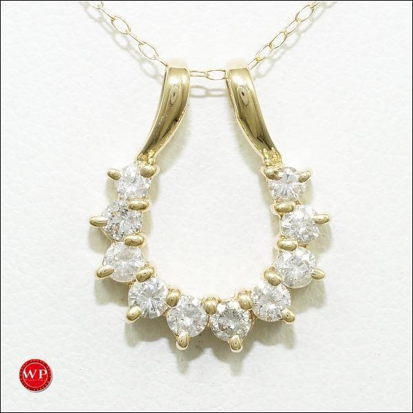 全国総量無料で ネックレス K18 18金 YG イエローゴールド ダイヤ 0.56, HEMP NAVI e5a1ce57