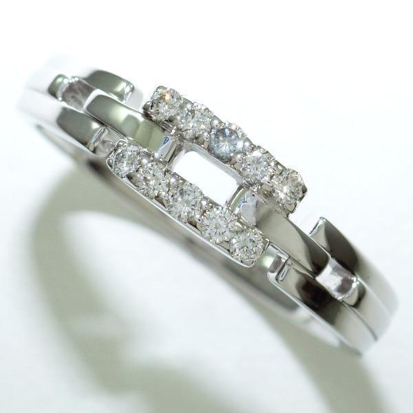 高級品市場 リング K18 18金 WG ホワイトゴールド 12.5号 ダイヤ 0.14, K-city 6887354c