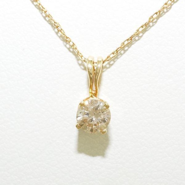 超可爱の ネックレス K14 14金 YG イエローゴールド ブラウンダイヤ, 目黒区 b28810bb