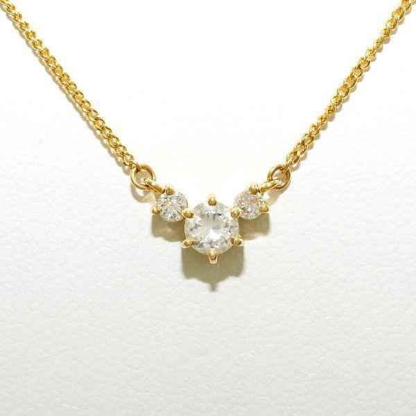 【残りわずか】 ネックレス K18 18金 YG イエローゴールド ダイヤ 0.21 0.09, シカマチ 504c4610