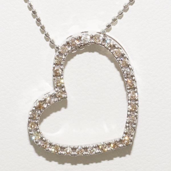 超美品 ネックレス K18 18金 WG ホワイトゴールド ダイヤ 0.3, なでしこスタイル f43dbdd8
