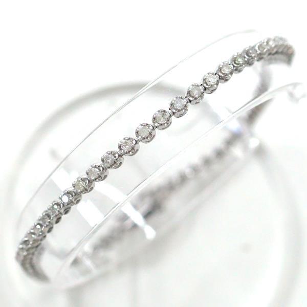 非常に高い品質 ブレスレット K14 K14 14金 1.00 ダイヤ WG ホワイトゴールド ダイヤ 1.00, ロックピンのMATSUO:8ad41467 --- airmodconsu.dominiotemporario.com