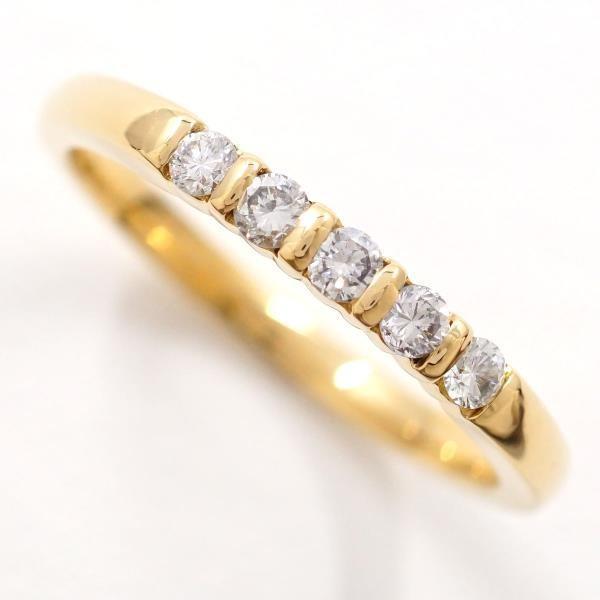 魅力的な価格 リング K18 18金 YG イエローゴールド 14号 ダイヤ 0.20, ナガトマチ 527c4931