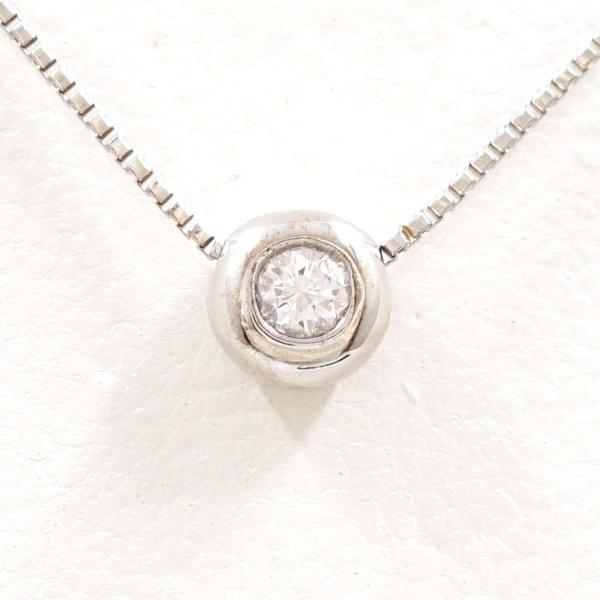 【NEW限定品】 ネックレス K18 18金 WG ホワイトゴールド ダイヤ 0.05, ナガヌマキカク 10747d9b