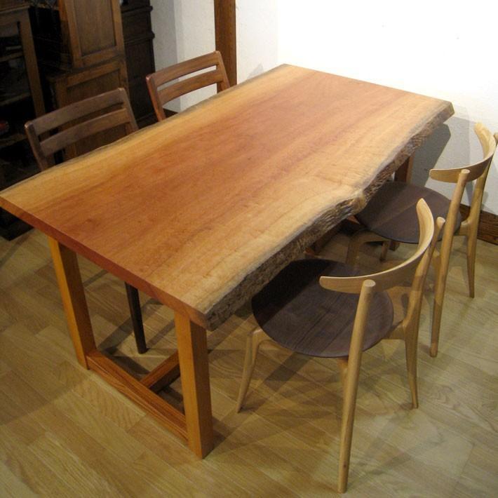 一枚板テーブル ホゼ 兼用脚付 ダイニングテーブル 座卓 2通りで使えます 幅150