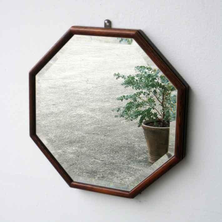 八角ミラー 鏡 壁掛け ミラー 壁掛けミラー 壁掛けミラー ウォールミラー アンティーク 鏡 壁掛け ミラー リビング 玄関