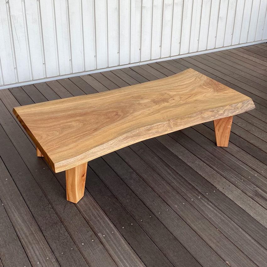 座卓 一枚板 ちゃぶ台 楠 リビングテーブル センターテーブル 和モダン 日本製 国産 送料無料