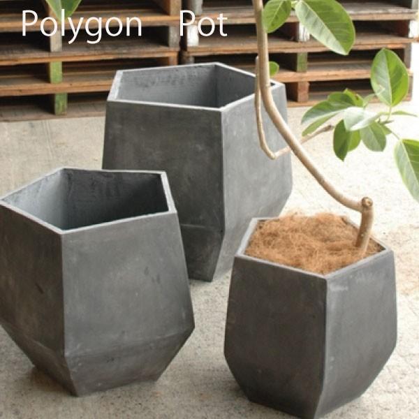 プランター ファイバーグラス ファイバークレイ polygon ポリゴン 植木鉢 鉢カバー 軽量プランター