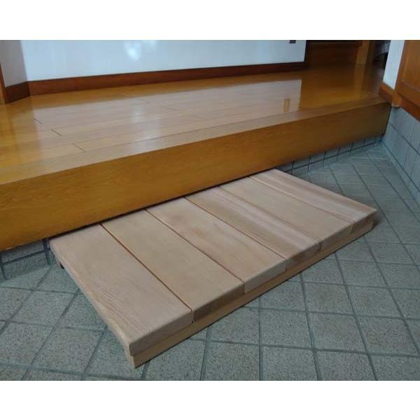 玄関用ステップロング 【日本製】木製玄関靴脱ぎ台|wood|02