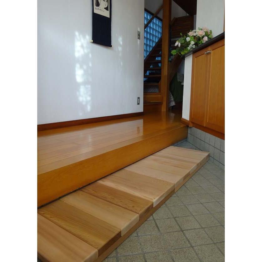 玄関用ステップロング 【日本製】木製玄関靴脱ぎ台|wood|03