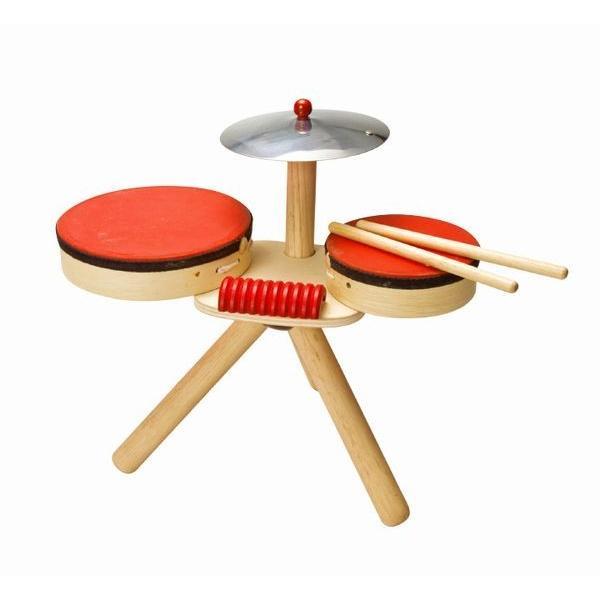 木のおもちゃ プラントイジャパンPLANTOYS 木製楽器 ミュージカルバンド II6410|woodayice