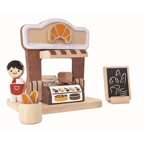 木のおもちゃ プラントイジャパンPLANTOYS 木製おままごと ベーカリー6615|woodayice