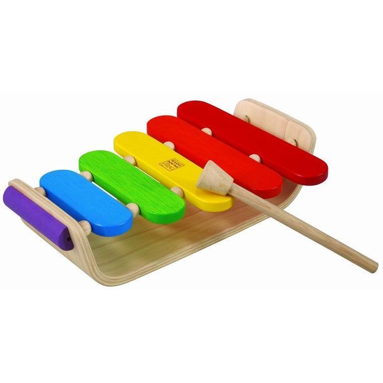 木のおもちゃ プラントイジャパンPLANTOYS 木製楽器 オーバルシロフォン6405|woodayice|04