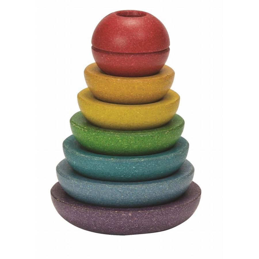 木のおもちゃ プラントイジャパンPLANTOYS 木製知育玩具 スタッキングリングII5615|woodayice|02