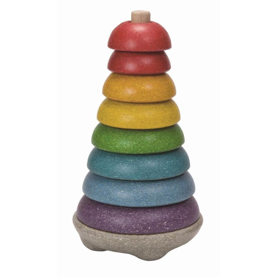 木のおもちゃ プラントイジャパンPLANTOYS 木製知育玩具 スタッキングリングII5615|woodayice|04