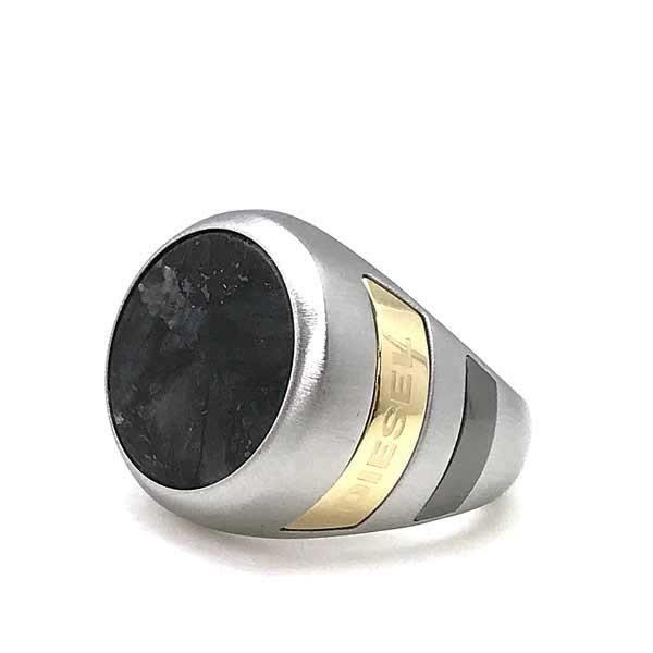 Diesel Mens Silver Ring DX0742040