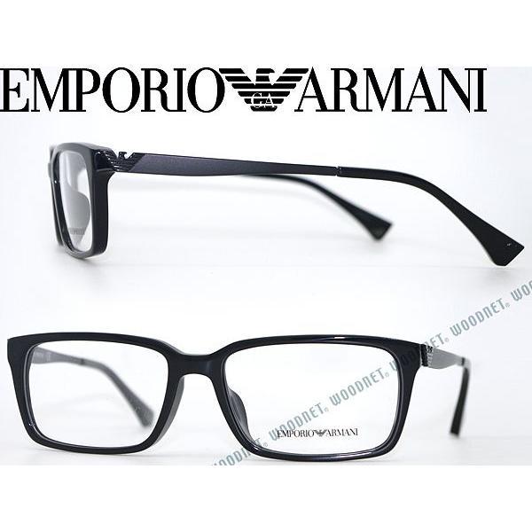 f39bf6f16e4 EMPORIO ARMANI エンポリオアルマーニ メガネフレーム 3030F-5017 ブラック  EA-3030F-5017 WOODNET -  通販 - Yahoo!ショッピング
