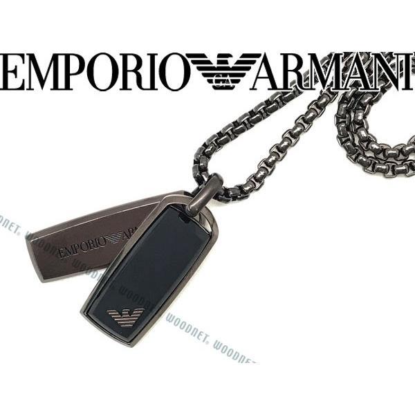 日本限定 EMPORIO ARMANI エンポリオアルマーニ ネックレス ガンメタルブラック EGS2342200, クリスタルテラス ライトストーン 77871c15