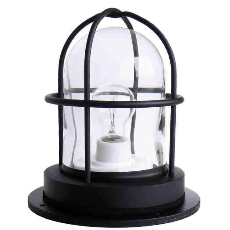 [新商品] 松本船舶 マリンランプ Gデッキ ブラック LED電球付き (RG-DK-B)|woody-koubou