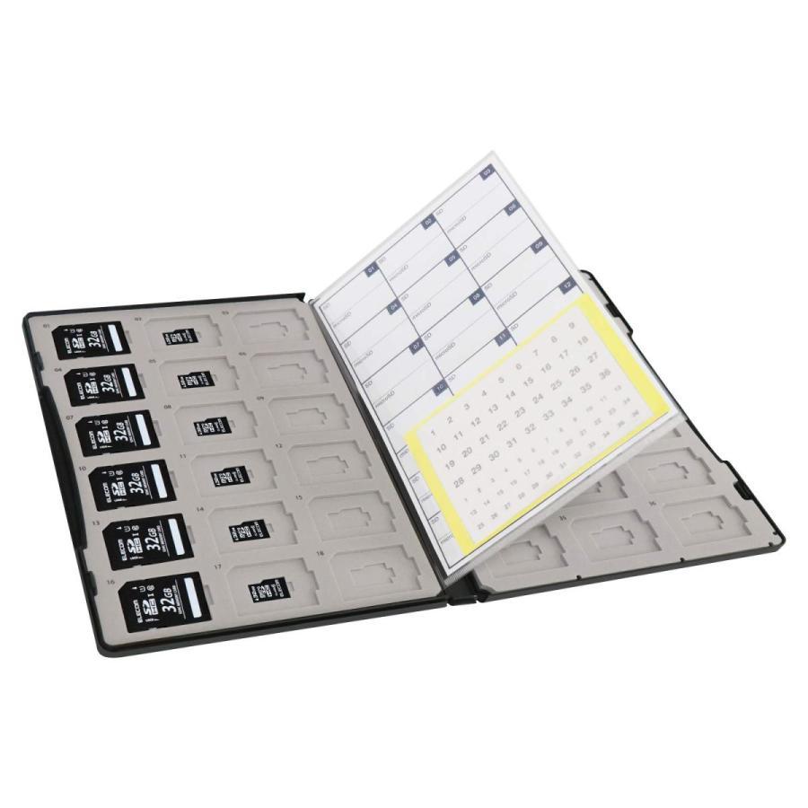 エレコム メモリカードケース 72枚収納(SDカード36枚+microSDカード36枚) インデックスカード+ナンバーラベル付き ブラック CMC-ECSDCDC02BK|woody-terrace