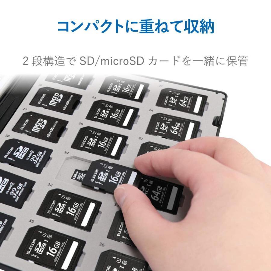 エレコム メモリカードケース 72枚収納(SDカード36枚+microSDカード36枚) インデックスカード+ナンバーラベル付き ブラック CMC-ECSDCDC02BK|woody-terrace|03