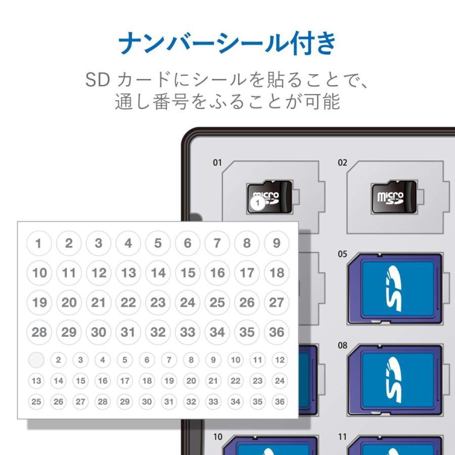 エレコム メモリカードケース 72枚収納(SDカード36枚+microSDカード36枚) インデックスカード+ナンバーラベル付き ブラック CMC-ECSDCDC02BK|woody-terrace|05