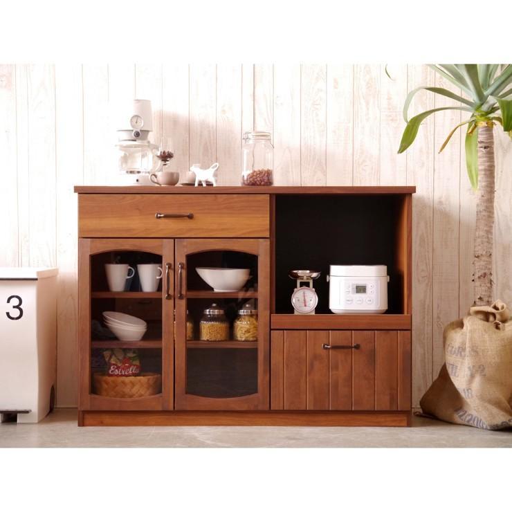 キッチンカウンター 収納 完成品 完成品 幅120cm