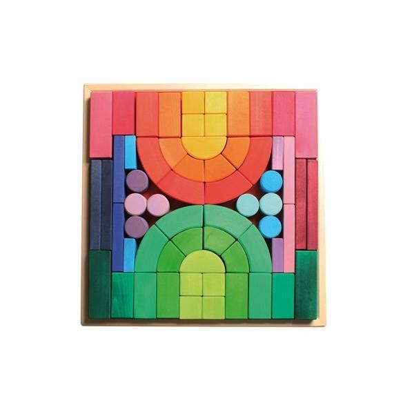 グリムス社 ロマネスクブロック 木のおもちゃ 知育玩具 積み木 つみき GM10214