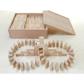 積木 木のおもちゃ ドミノ積木3cm(168pcs)