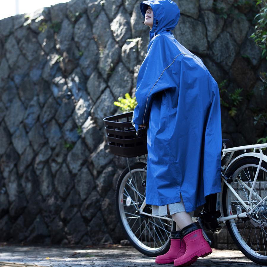 レインポンチョ レインコート 自転車 カッパ 雨具 レディース メンズ 通学 ロング 防水 人気 在庫処分 ハイポンチョ 3340|workerbee|10