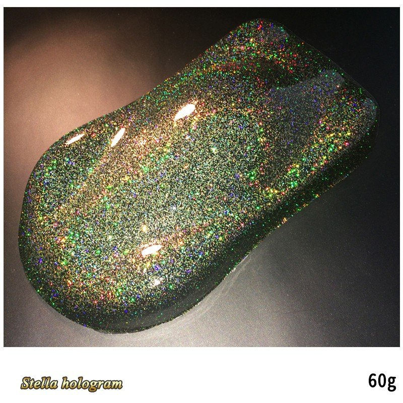 SHOWUP ステラホログラムフレーク SGH10 ステラゴールドレインボー 0.1mm 60g