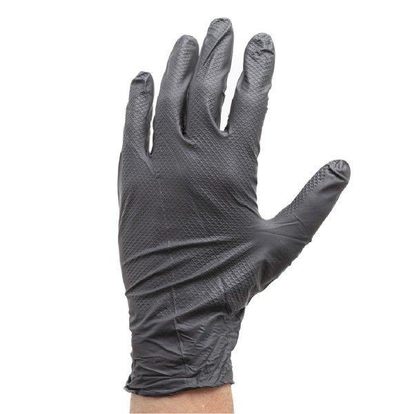 使い捨て手袋 エンジニアグローブ LL 50枚入 ニトリルゴム 自動車整備 工場作業 ブラック workway 02